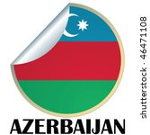sticker with flag of azerbaijan | Shutterstock .eps vector #46471108