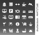 hotel icon set vector ... | Shutterstock .eps vector #464717168