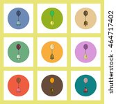 flat icons set of back to... | Shutterstock .eps vector #464717402