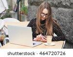business women wearing glasses  ... | Shutterstock . vector #464720726