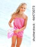happy girl on sea background | Shutterstock . vector #46473073