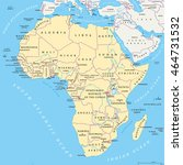 africa political map with... | Shutterstock .eps vector #464731532