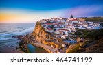 azenhas do mar on blueish sunset | Shutterstock . vector #464741192