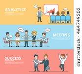 linear flat success in business ... | Shutterstock .eps vector #464749202