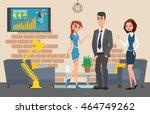 business professional work.... | Shutterstock .eps vector #464749262