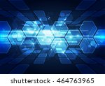 vector digital speed technology ... | Shutterstock .eps vector #464763965
