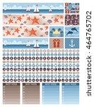 planner stickers. vector   Shutterstock .eps vector #464765702