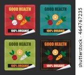 vector   good health 100 ... | Shutterstock .eps vector #464767235