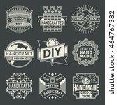handicraft and diy insignias... | Shutterstock .eps vector #464767382