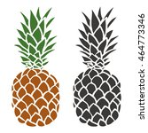 pineapple in color and... | Shutterstock .eps vector #464773346
