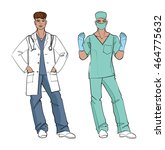 md and surgeon. vector... | Shutterstock .eps vector #464775632