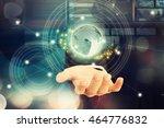 digital technology ...   Shutterstock . vector #464776832