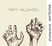 vector illustration of hand... | Shutterstock .eps vector #464781968