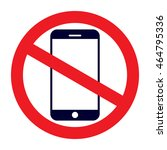 no cell phone sign | Shutterstock .eps vector #464795336