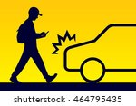 pay attention while walking sign | Shutterstock .eps vector #464795435