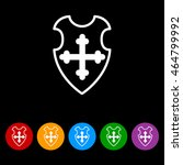 web line icon. shield.   Shutterstock .eps vector #464799992