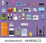set of home  kitchen and house... | Shutterstock .eps vector #464808122