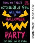 halloween party flyer or poster.... | Shutterstock .eps vector #464816642