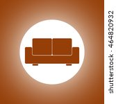 comfortable sofa icons. flat... | Shutterstock .eps vector #464820932