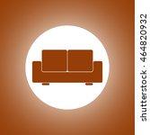 comfortable sofa icons. flat... | Shutterstock .eps vector #464820932