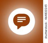 flat speech bubble icon. vector ...