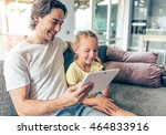 cute little girl and her... | Shutterstock . vector #464833916