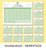 calendar planner 2017  design... | Shutterstock .eps vector #464847626