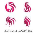 beauty women icon logo template | Shutterstock .eps vector #464851976
