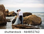 wedding. wedding by the sea.... | Shutterstock . vector #464852762