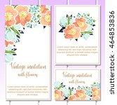 vintage delicate invitation... | Shutterstock .eps vector #464853836
