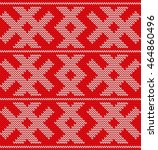 traditional christmas knitted... | Shutterstock .eps vector #464860496
