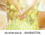 couple holding hands  close up | Shutterstock . vector #464860706