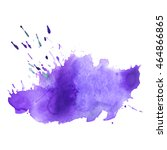 expressive abstract watercolor... | Shutterstock .eps vector #464866865