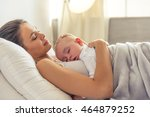 side view of beautiful young... | Shutterstock . vector #464879252