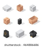 different box vector icons... | Shutterstock .eps vector #464886686