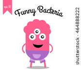 cute monster with three eyes    Shutterstock .eps vector #464888222