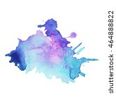expressive abstract watercolor... | Shutterstock .eps vector #464888822