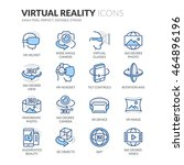 simple set of virtual reality... | Shutterstock .eps vector #464896196