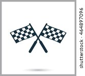 finish flags icon on the... | Shutterstock .eps vector #464897096