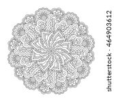 black and white floral pattern. ... | Shutterstock .eps vector #464903612