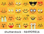 set of emoticons. set of emoji. ... | Shutterstock .eps vector #464909816