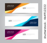 Vector design Banner background. | Shutterstock vector #464912222