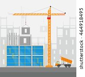 concept of process construction ... | Shutterstock .eps vector #464918495