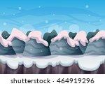 cartoon vector snow landscape...
