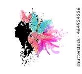 beautiful fashion women with...   Shutterstock .eps vector #464924336