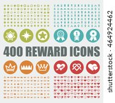 prize and reward icons. star... | Shutterstock .eps vector #464924462