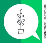 plant in flowerpot | Shutterstock .eps vector #464924888