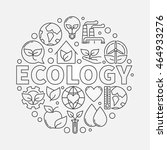 ecology round symbol. vector... | Shutterstock .eps vector #464933276