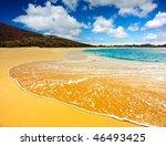 Amazing beach on a tropical island - stock photo