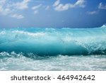 beautiful waves in the sea | Shutterstock . vector #464942642